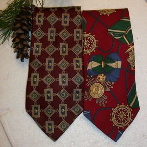 Lot of 2 Tommy Hilfiger Mens Ties 100% Silk